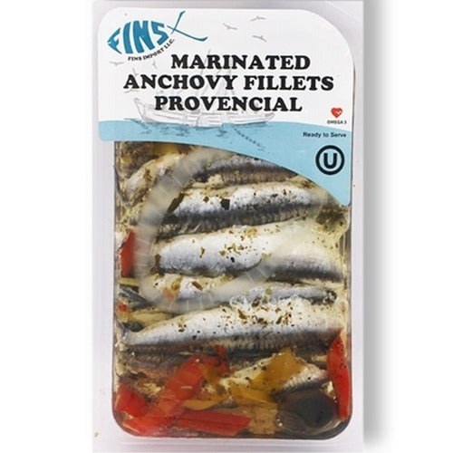 Fins Marinated Anchovy Fillets Provencial 124 Gr ( 4.4 Oz )