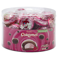 Ulker Cokomel Strawberry Marshmallow Cookies 420 Gr ( 14.8 Oz )