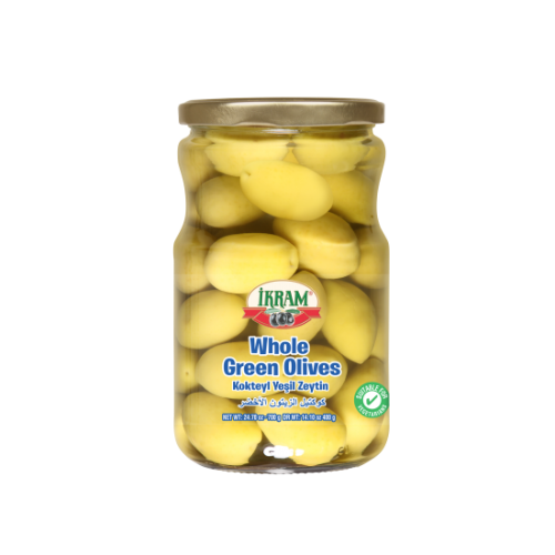 Ikram Whole Green Olives 700 Gr ( 24.7 Oz )