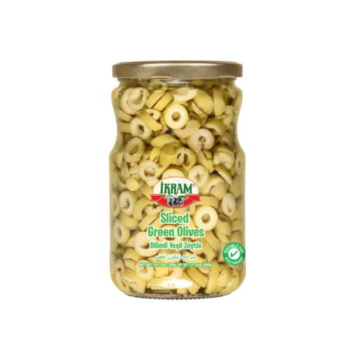 Ikram Sliced Green Olives 700 Gr ( 24.7 Oz )