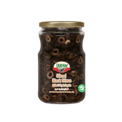 Ikram Sliced Black Olives 700 Gr ( 24.7 Oz )