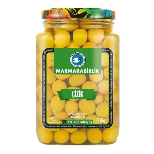 Marmarabirlik Scratched Green Olives 850 Gr ( 29.9 Oz )