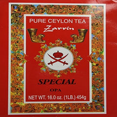 Zarrin Pure Ceylon Tea Special OPA Red Box 454 Gr ( 16 oz )