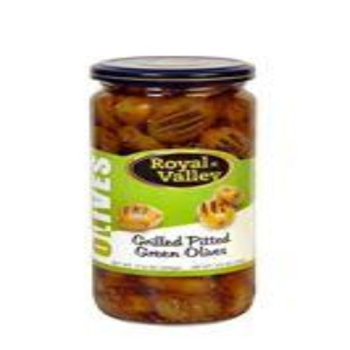 Royal Valley Grilled Pitted Green Olives 500 Gr ( 17.6 Oz )
