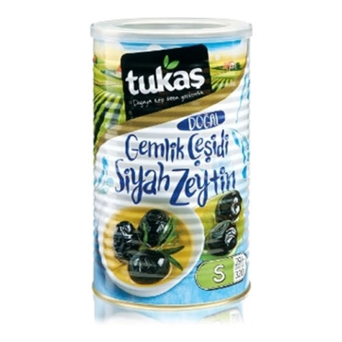 Tukas Natural Gemlik Black Olives S 291-320 800 Gr ( 28.2 Oz )