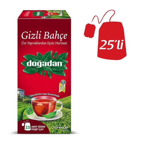 Dogadan Secret Garden Black Tea Bags 25 Tb 50 Gr ( 1.7 Oz )