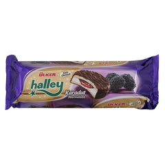 Ulker Halley Chocolate Marshmallow With Blackberry 10 Pcs 236 Gr ( 8.32 Oz )