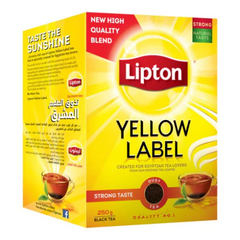Lipton Yellow Label Dust Black Tea Strong Taste 250 Gr ( 8.8 Oz )