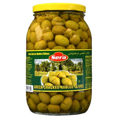 Sera Green Cracked Nablus Olives 2 Kg ( 70 Oz )