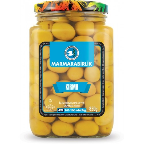 Marmarabirlik Cracked Green Olives 850 Gr ( 29.9 Oz )