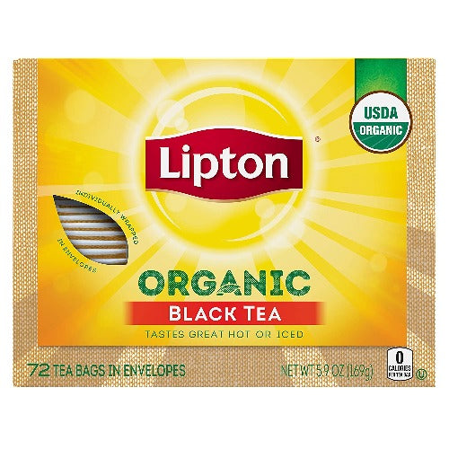 Lipton Organic Black Tea 72 Tb 162.7 Gr ( 5.74 Oz )