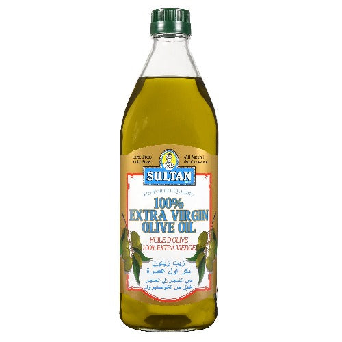 Sultan 100% Extra Virgin Olive Oil 1 Lt ( 33.8 FL OZ )