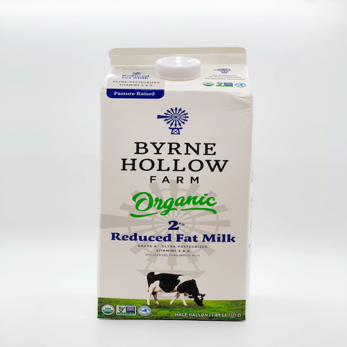 Byrne Hollow Farm Organic Reduced Fat Milk %2 1.89 L ( 1/2 Gallon )