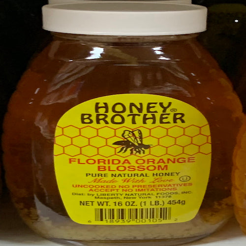 Honey Brother Florida Orange Blossom Honey 454 Gr ( 1 Lb )