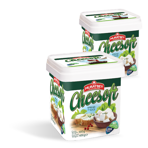 Murat Bey Cheesoft Spreadable or Sliced White Cheese 460Gr ( 16.2 Oz )