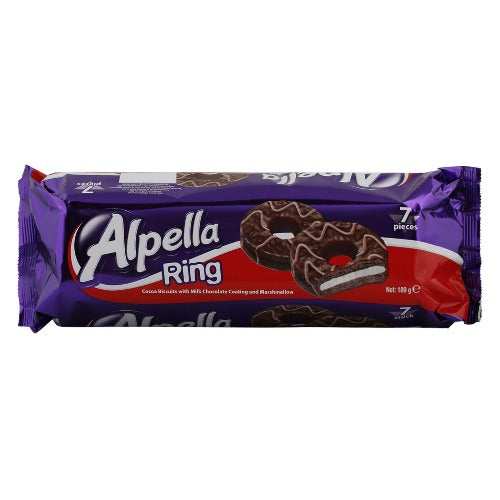 Ulker Alpella Ring Chocolate 7 Pcs 189 Gr ( 6.6 Oz )