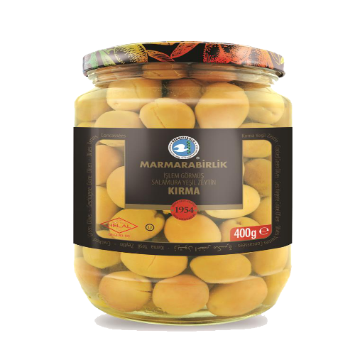 Marmarabirlik Cracked Green Olives 710 Gr ( 25 Oz )