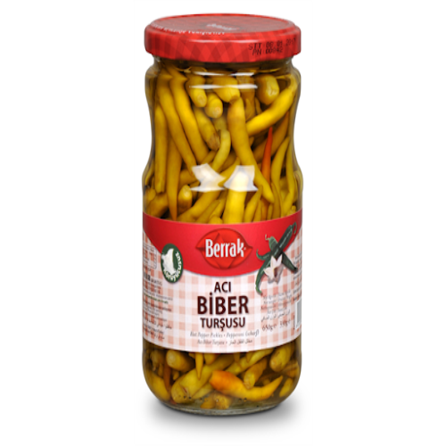 Berrak Hot Pepper Pickles 650 Gr ( 23 Oz )