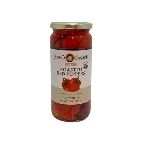 Brad's Organic Roasted Red Peppers 454 Gr ( 16 Oz )