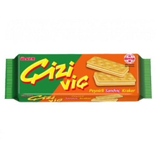 Ulker Cizivic Cheesy Sandwich Cracker 90 Gr ( 3.1 Oz )