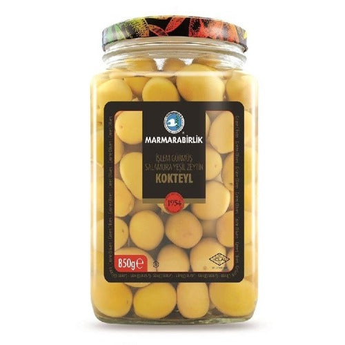 Marmarabirlik Cocktail Green Olives 850 Gr ( 29.9 Oz )