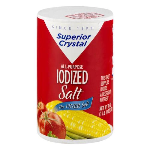 Superior Crystal All Purpose Iodized Salt 737 Gr ( 26 Oz )