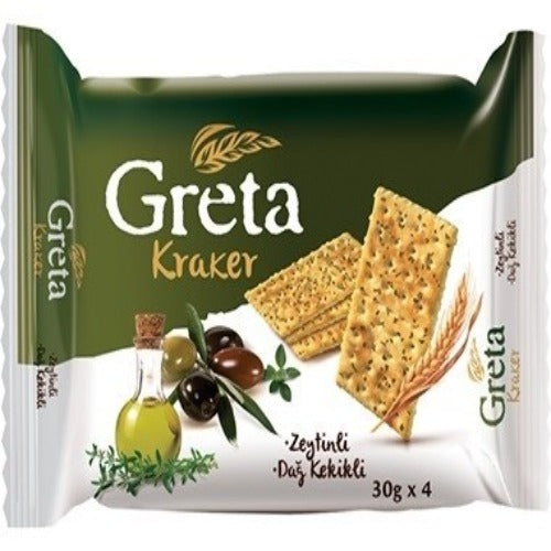 Greta Crackers With Olive And Oregano 120 Gr ( 4.23 Oz )