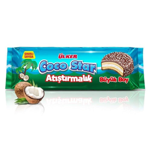 Ulker Coco Star Ring Atistirmalik Coconut Flavored 154 Gr ( 5.4 Oz )