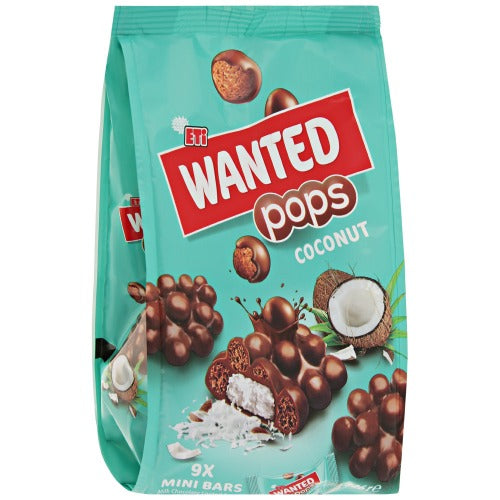 Eti Wanted Pops Coconut Chocolate Bars 126 Gr ( 4.4 Oz )