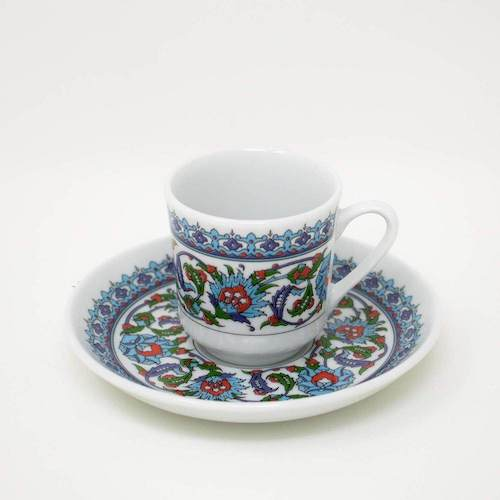 Gural Porcelain Turkish Coffee Set Topkapi 12 Pcs
