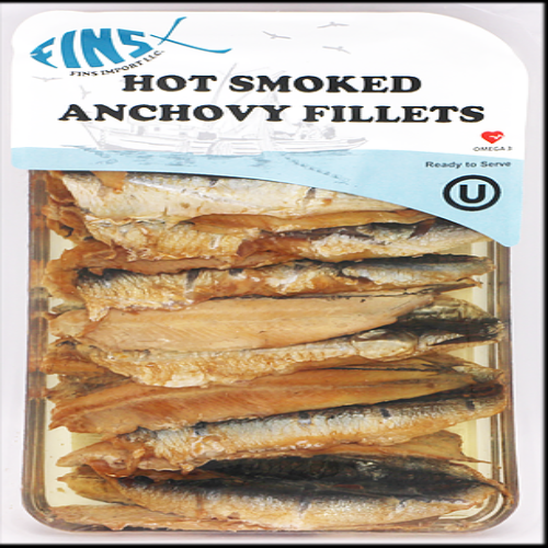 Fins Hot Smoked Anchovy Fillets 124 Gr ( 4.4 Oz )