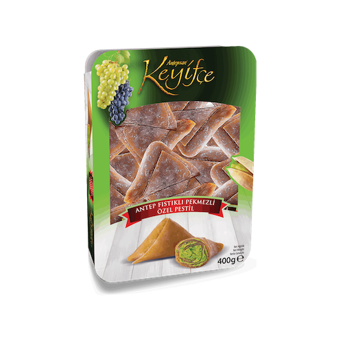 Antepsan Keyifce Special Pestil With Pistachio And Grape Syrup 400Gr  ( 14.1 Oz )
