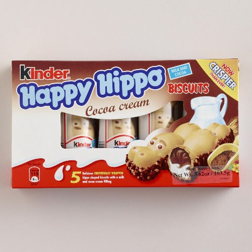 Kinder Happy Hippo Milk And Cocoa 5 Pack 102 Gr ( 3.6 Oz )