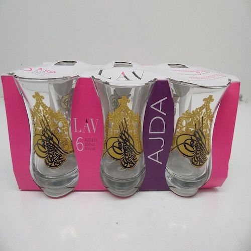 Lav Ajda Tea Glasses 6 Pack AJD315 150CC ( 5 1/4 Oz )