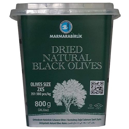 Marmarabirlik Dried Natural Black Olives (2XS) 800g