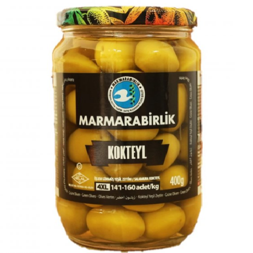 Marmarabirlik Cocktail Green Olives 710 Gr ( 25 Oz )