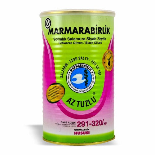 Marmarabirlik Black Olives Low Salt ( 291-320 ) 800 Gr ( 1.8 Lbs )