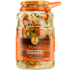Melis Mixed Vegetable Pickles 2.5 Kg ( 5.5 Lbs )