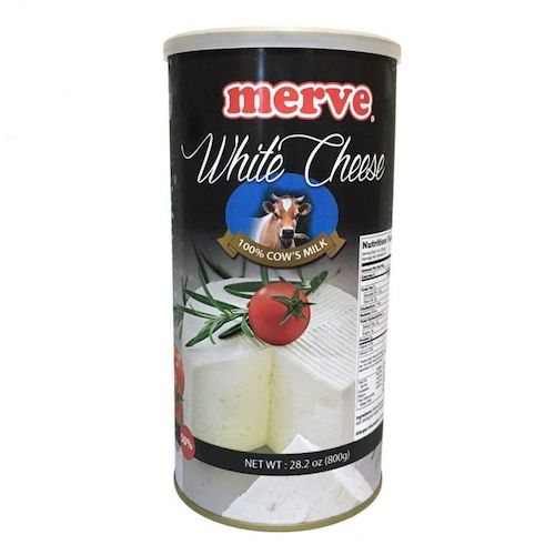 Merve White Feta Cheese %50 Fat 800Gr ( 28.2 Oz )