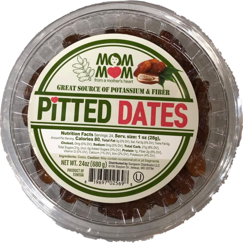 Mom Mom Pitted Dates 680 Gr ( 24 Oz )