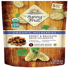Sunny Fruit Organic Mulberries 150 Gr ( 5.3 Oz )