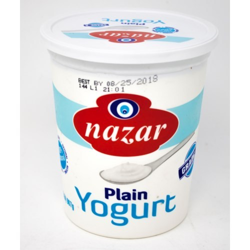 Nazar Plain Yogurt 908 Gr ( 2 Lbs )
