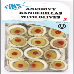 Fins Anchovy Banderillas With Green Olives 198 Gr ( 7 Oz )