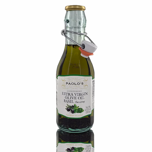 Paolo's Extra Virgin Olive Oil Basil Flavoring 250 ML ( 8.45 FL OZ )