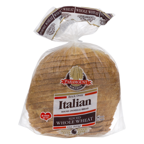 Paramount Whole Wheat Italian Panera Bread Sliced 622 Gr ( 22 Oz )
