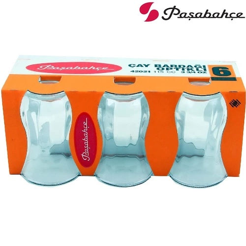Pasabahce Uskudar Tea Glass 6 Pack 115CC ( 3 3/4 Oz )