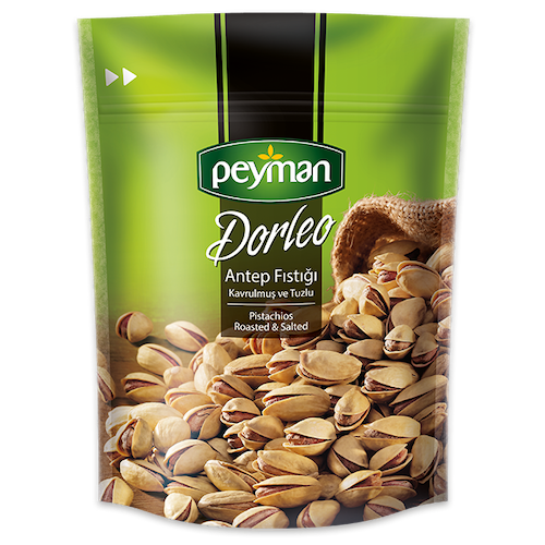 Peyman Dorleo Roasted & Salted Turkish Pistachios 150 Gr ( 5.3 Oz )