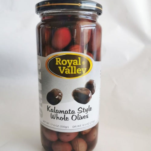 Royal Valley Kalamata Style Whole Olives 500 Gr ( 17.6 Oz )