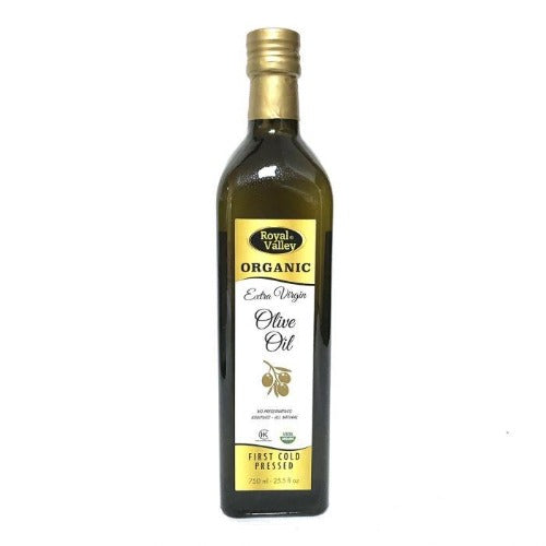 Royal Valley Organic Extra Virgin Olive Oil First Cold Pressed 750Ml ( 22.5 FL OZ )