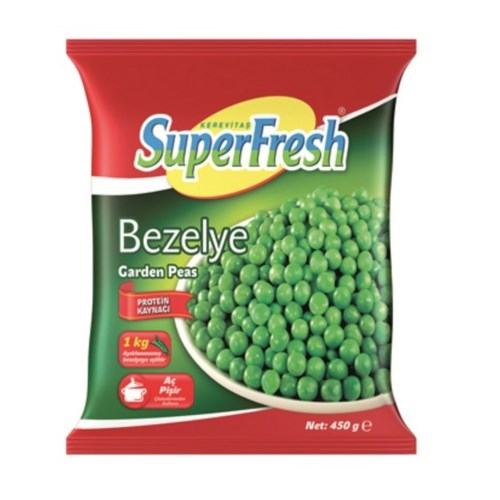 SuperFresh Frozen Green Peas 450 Gr ( 15.9 Oz )